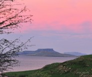 An unusually pink sunset over the Sterkfontein dam. The shot was taken from Qwantani.