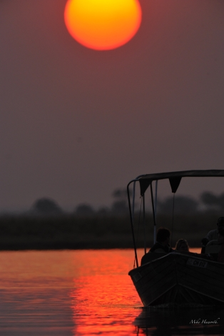 All boats must be out of the Chobe National Park by sunset.