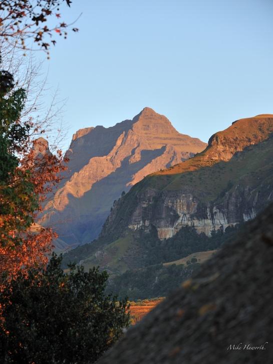 A scene near Cathedral Peak in the Drakensberg.