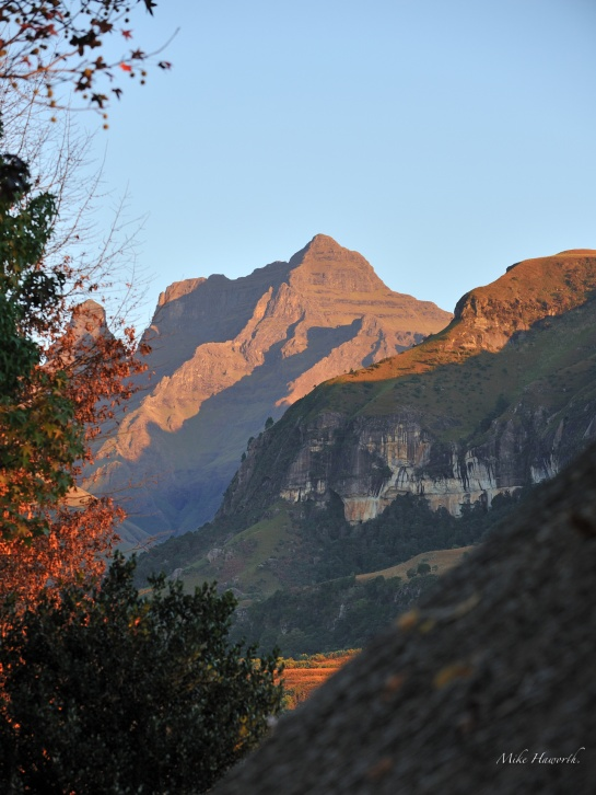 A scene near Cathedral Peak in the Drakensberg.