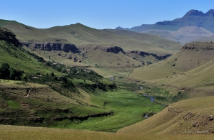 The vista on a hike to World's View at Giant's Castle Reserve in the Drakensberg