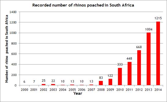 rhino poaching 2014